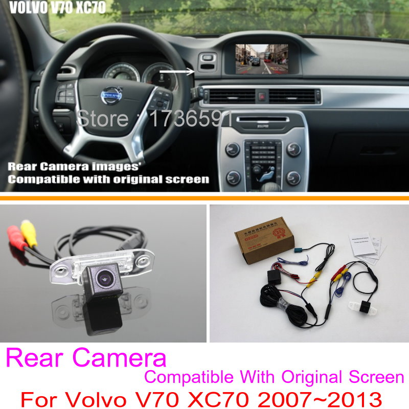 Lyudmila For Volvo V70 XC70 2007~2013 / RCA & Original Screen Compatible / Car Rear View Camera Sets / HD Back Up Reverse Camera