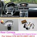Para Volvo V70 XC70 2007 ~ 2013/RCA & Tela Original Compatível/Câmera de Visão Traseira do carro Sets/HD Back Up Reversa câmera