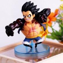 Anime One Piece Luffy Zoro Sanji Q Versions PVC Action Figures Doflamingo Franky Senor Kids Toys Doll 6pcs/set OPAF038