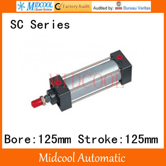 SC series standard Adjustable cylinder SC125*125 single rod double-acting air compressor piston hydraulic cylinder 38mm cylinder barrel piston kit