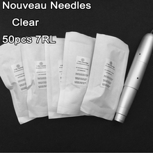 Clear 50pcs Cartridge 7RL Permanent Makeup Needle 600D-G Eyebrow Lip Needles For Nouveau Rotary Machine Pen