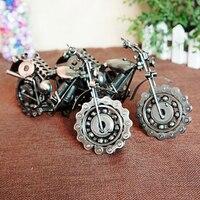 דגם אופנוע עם שרשרת מתכת מתנה חדשנית גלגלי Rotatable