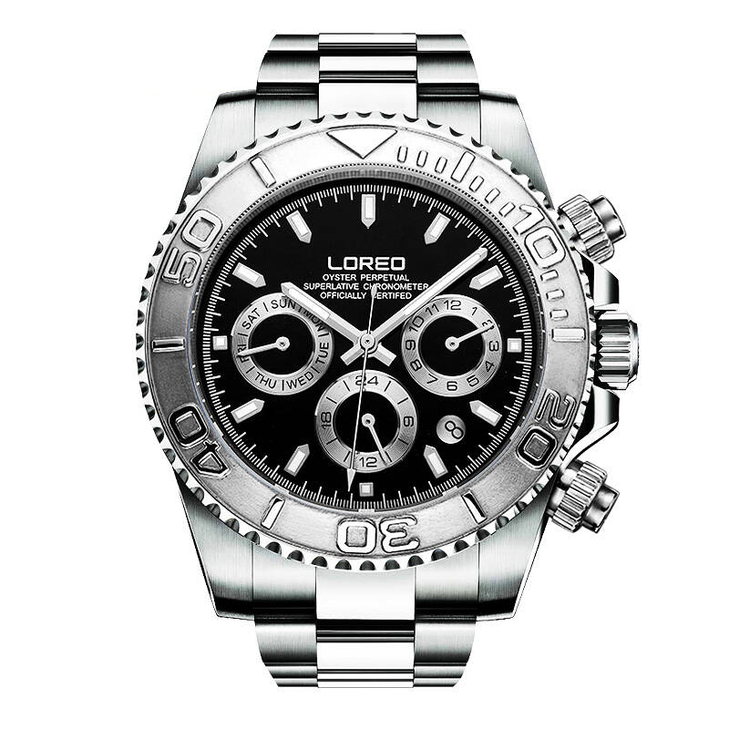 LOREO 9208 Germany watches men luxury brand automatic self-wind Military Chronograph waterproof calendar luminous diamond loreo 6004 germany watches men luxury brand quartz sapphire water resistant 5atm luminous calendar chronograph relogio masculino