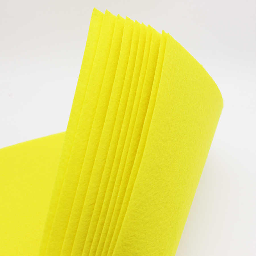 Yellow Craft Felt Fabric by The Metre Material Sheets 90CM Wide