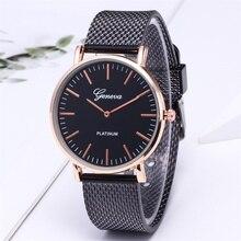 Geneva Luxury Brand Mens Watch Stainless Steel Analog Quartz Ladies Dress Clock Montre Homme