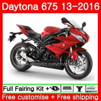 Bodywork For Triumph Daytona 675 13 14 15 16 Body Factory red 89SH7 Daytona675 13 16 Daytona 675 2013 2014 2015 2016 Fairings