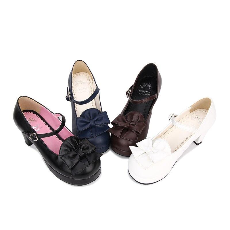 Zapatos Negro 33 Altos Mori Angelical Mujer Impresión Cosplay Bowties Tacones Mujeres 6 Chica Marino Cm azul 5 Partido 47 Princesa Señora Bombas Del Lolita beige Vestido blanco zHwHnBW