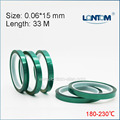 15mm width Green PET Adhesive Tape High Temperature for PCB Solder Shielding