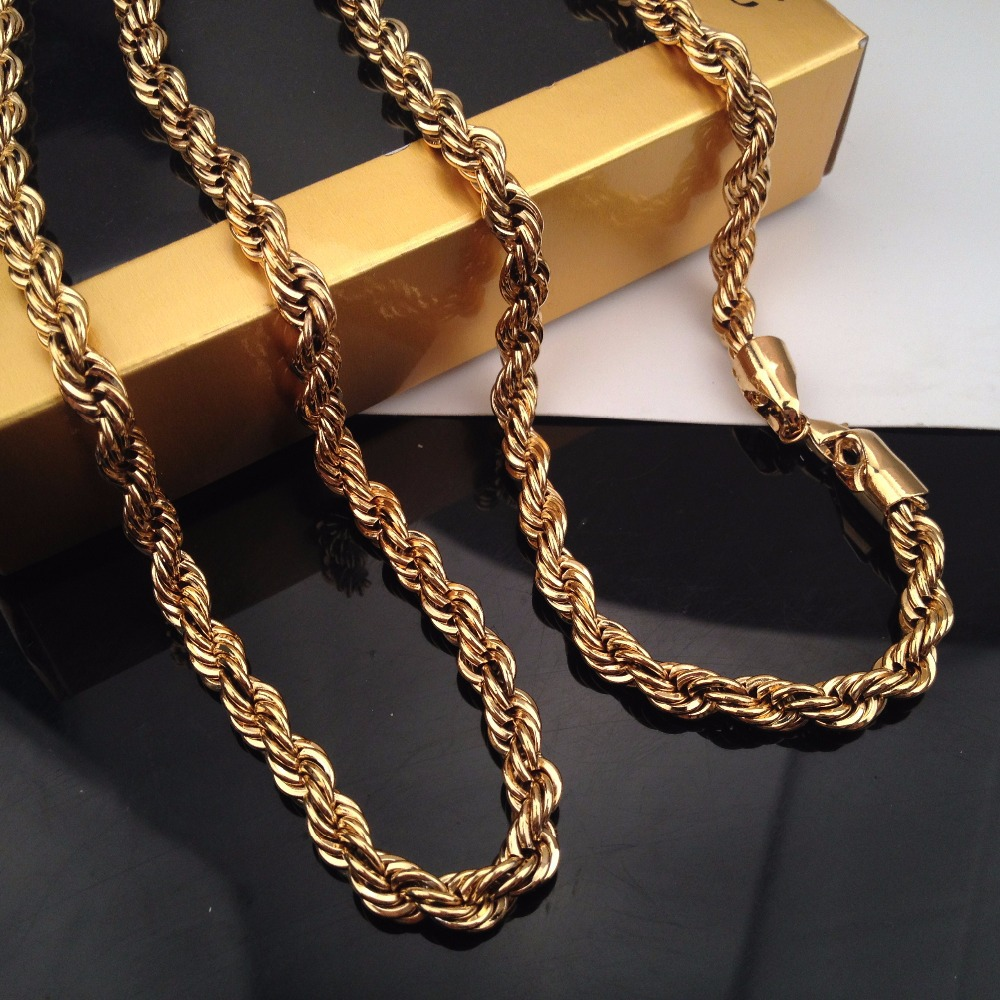 logo steel in new inches gold yellow products necklace vintage twist cartier
