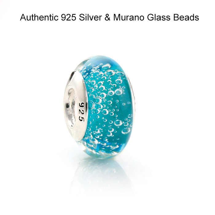 DIY Passend für Pandora Charms Armbänder Murano Glas Perlen 100% 925 Sterling-Silber-Schmuck Kostenloser Versand