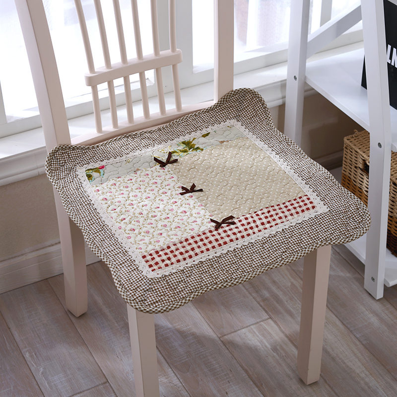 Handmade Seat Dining Chair Cushion Rustic Fabric Computer Chair Pad  Quilting Car Seat Belt Strap 100 ...