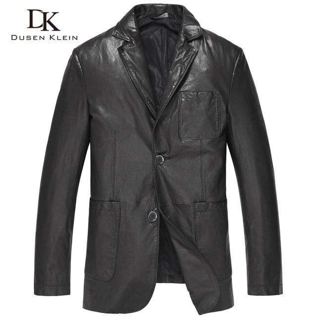 Men Genuine Leather suits Jacket Autumn Outerwear genuine Leather/Black/Slim/Simple Business Style/Sheepskin Suit Coat 15S1503