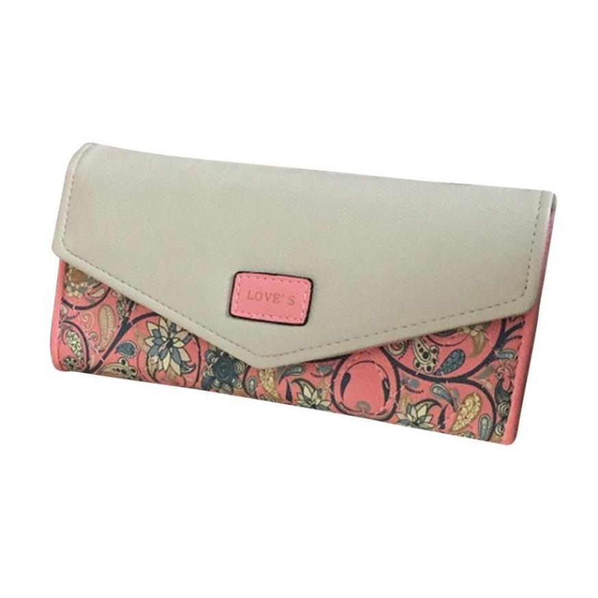 Retro Cash Coin Hasp Fold Purse Pastoral Clutch Bag Women Wallets Envelope Buckle Purse Drop Shopping Wallets Long Wallet -16