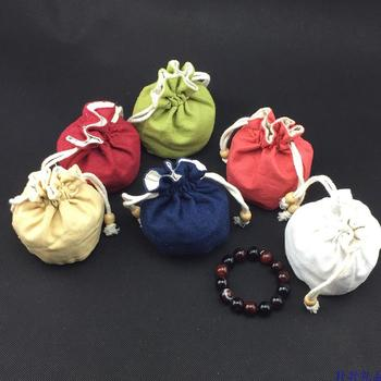 Round Bottom Cotton Linen Pouch Drawstring Jewelry Gift Bag High Quality Small Bucket Bag Bracelet Pouch Coin Purse 10pcs/lot transparent bucket bag and pouch bag
