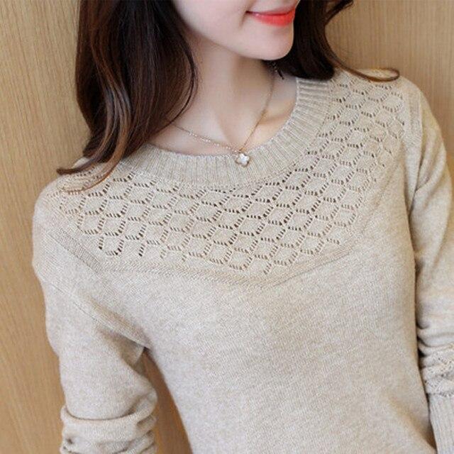 OHCLOTHING เสื้อกันหนาวหญิงหญิง Pullovers ฤดูใบไม้ผลิ 2019 สไตล์ใหม่ Slim เสื้อกันหนาวแขนยาวและ Slim สไตล์