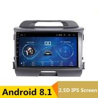 9 2.5D IPS Android 8,1 DVD мультимедиа плеер gps для KIA Sportage R 2011 2012 2013 2014 2015 аудио радио стерео навигации