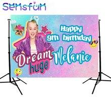 7x5ft Jojo Siwa фон для фотосъемки на день рождения для новорожденных девочек Виниловый фон для фотостудии