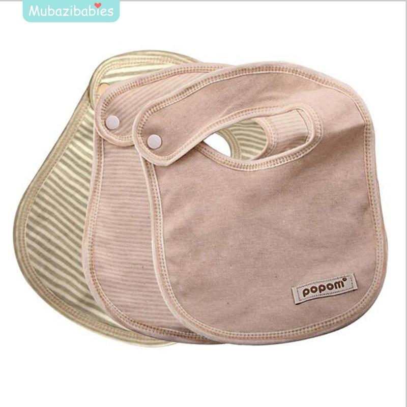 Natural Organic Cotton Baby Bibs Burp Cloths Scarf High Quality Organic Cotton Bib for N ...