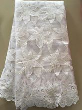 Wholesale White  Africn french tulle Nylon Lace Trim For Clothing Accessories Sewing Applique French Net Lace Fabric NA435B-7