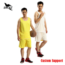 Custom Double Side Wearing Ultra Light Breathable Basketball Jersey GYM Sport Uniform Cheap Basketball Shirt Tracksuit