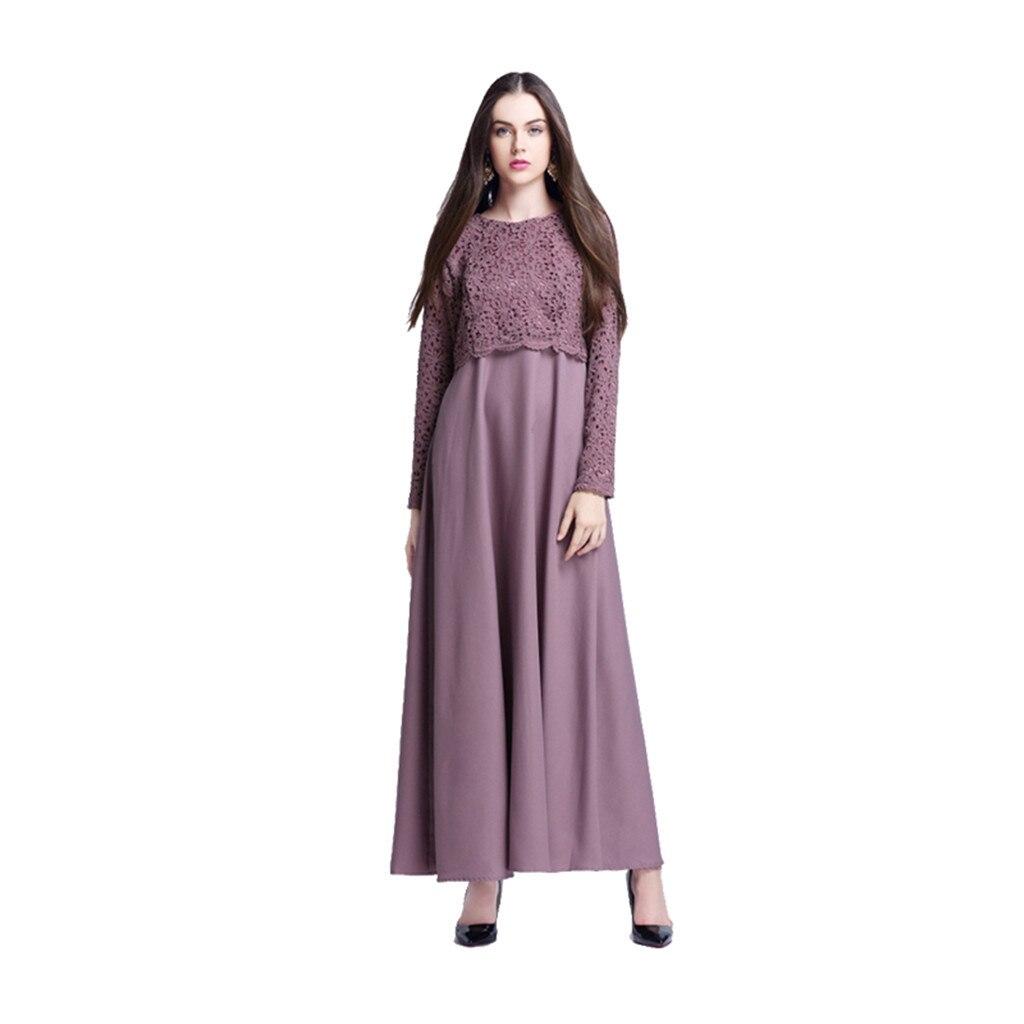 green pink De purple Vestido Musulmana Moda Las Manga Blue Maxi Envío Larga Elegante 14 Abaya La Gratis Kaftan Encaje 3 Mujeres 2019 pRCnCH