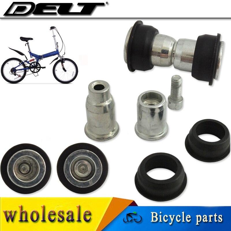 MTB Cycling Cycle Folding Bicycle Bike Pivot Lock Bolt Screw Nut Unit Bushes For Suspension Frame 28.8mm 1 Set