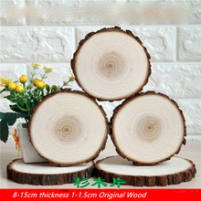 8-12CM Natural Unfinished Round Wood Slices For Kids DIY Crafts Party Number Cards Home Decoration Wedding Painting Gifts Tags
