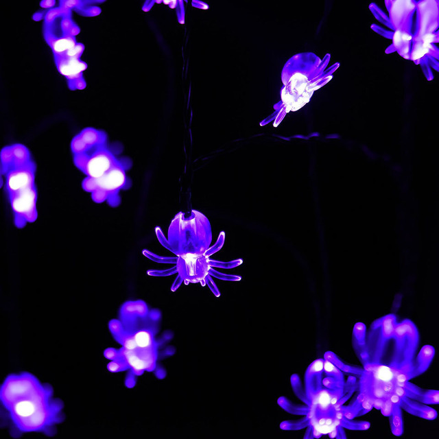 halloween insects weird spider decor lights 10 20 led carnival solar