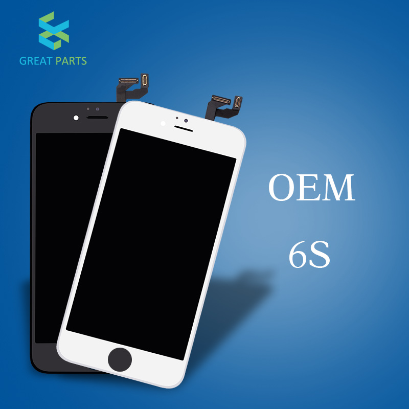 GREAT PARTS 5PCS OEM Quality LCD For iPhone 6S Display flex cable frame free shipping