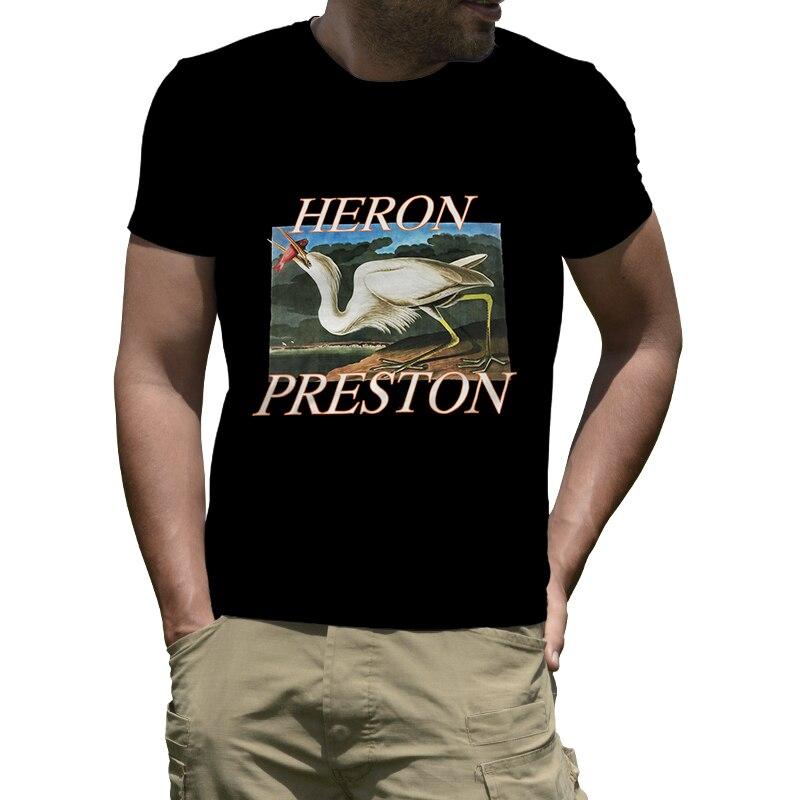 Summer Style Heron Preston T-Shirt Round Neck Men Funny Tee Shirt