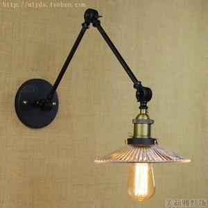 Image 2 - Iwhd Loft Phong Cách Bóng Đèn Edison Led Đèn Chao Đèn Thủy Tinh Đầm Tay Dài Vintage Đèn Tường Sconce Lampara Pared