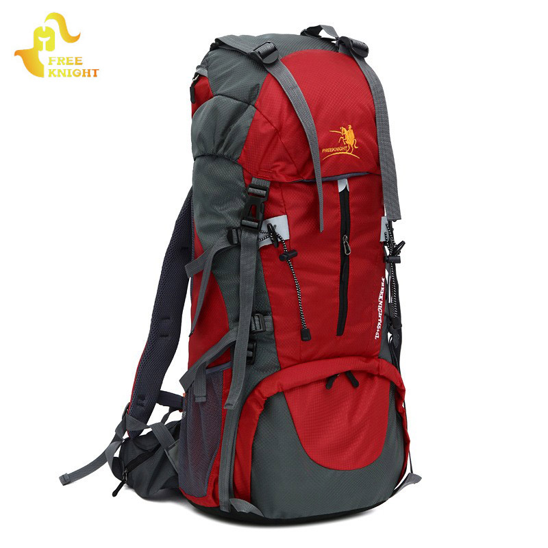 Free Knight 65L+5L Outdoor Sports Bag Large Capacity Hiking Backpack Waterproof Nylon Travel Bag Camping Backpacks Hunting Bags