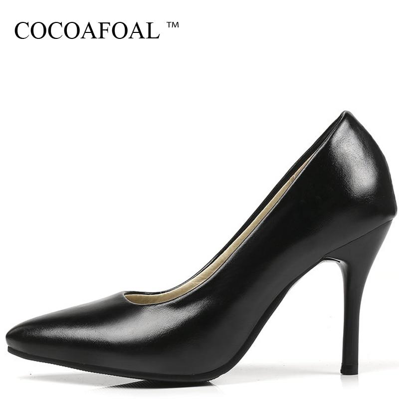 marron 2018 33 Femme Hauts Taille Cocoafoal Brun Noir Stiletto Talons Plus Chaussures 43 Pompes 32 Femmes Jaune Peep jaune La Noir Parti Toe Robe Talon Cnnq1wgF