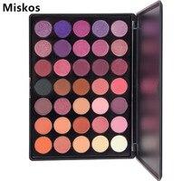 Miskos Professional 35 Color Eyeshadow Palette Ánh Sáng Lung Linh Mờ Beauty Make up Set Mắt Khói bóng Trang Điểm Pallete Kit Sombras