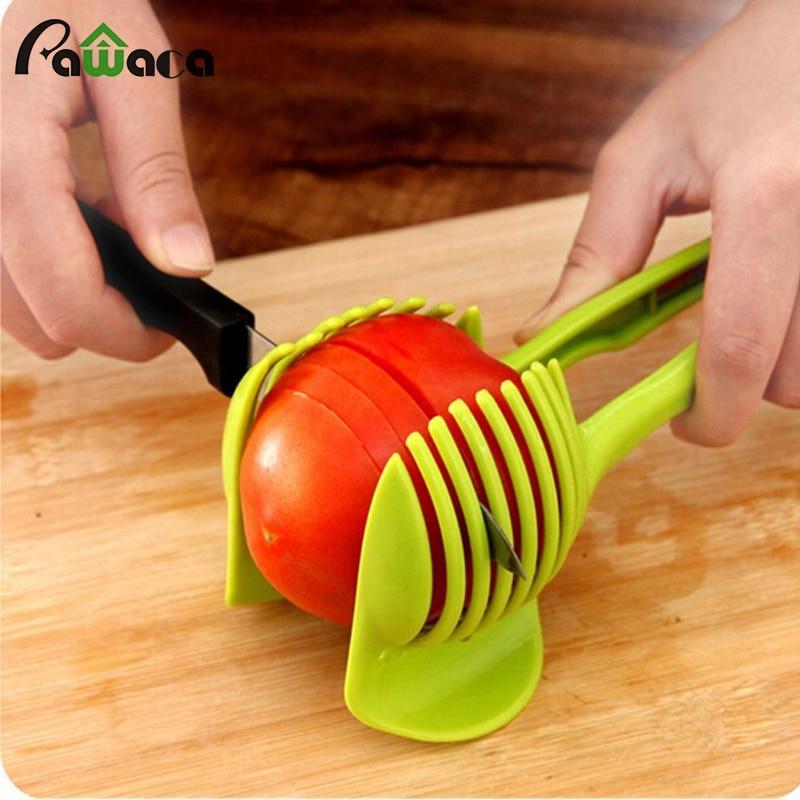 1 unid tomate slicer cortador de frutas de plástico herramienta de tomate ceboll