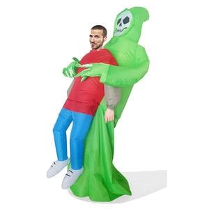 Image 3 - Disfraz inflable de la muerte para niños y adultos disfraz de Halloween, Esqueleto, fantasma