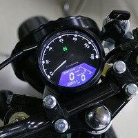 12000RPM kmh/mph Motorcycle Universal LCD Signal Speedometer Tachometer Odometer Gauge Gear indicator Cruiser Chopper Cafe Racer