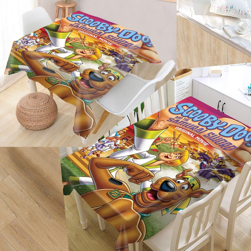 Shunqian Custom Scooby Doo Tablecloth Square /Rectangular Tablecloth For Wedding Table Cloth Cover TV Covers Tea Tablecloth image