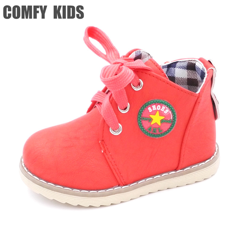save off c929c fcc99 Spring autumn fashion child boots shoes soft bottom flat boys girls boots  shoes baby casual flat boots baby ankle boots