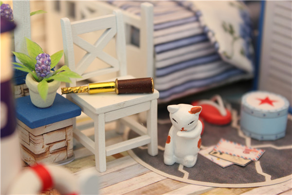 Hoomeda M025 DIY Dollhouse Miniature The Starry Night The Starry Sea For Decorat