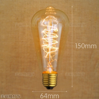 Lâmpadas Incandescentes bombillas lâmpada lampada edison lâmpada Tratamento de Superfície de Cobertura de Vidro : Transparente