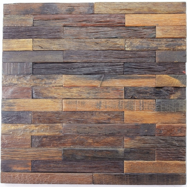Subway pattern ancient ship wood mosaic rustic wood for Lumber calculator for walls