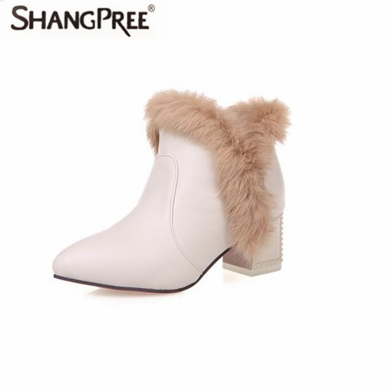 New Fashion high quality Genuine Leather fur Women Snow Boots Ankle Boots Comfortable non-slip Woman Winter Warm Snow Boots