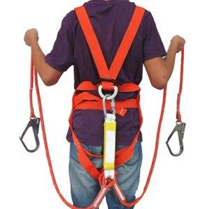 Image 2 - ربط حزام الأمان خمس نقاط كامل الجسم مزدوجة عامل الأمان ل بناء العمل حماية المعدات مع العازلة