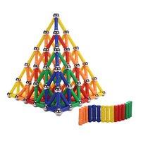 Colorful Magnetic Constructor Toys Children Building Designer Toy Metal Balls Magnet Bars And Rods Blocks Building
