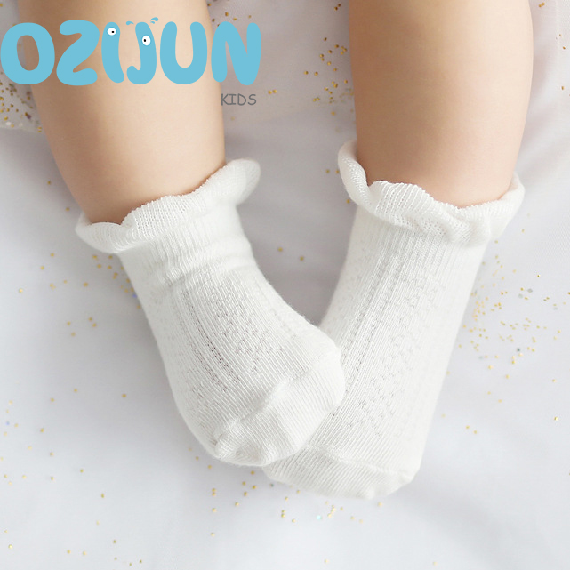 2018 New Summer 0-2 Years Baby Socks Infant Girls Thin Mesh Cotton Socks For Kids Unisex Loose Tube Newborn Socks Best Sell
