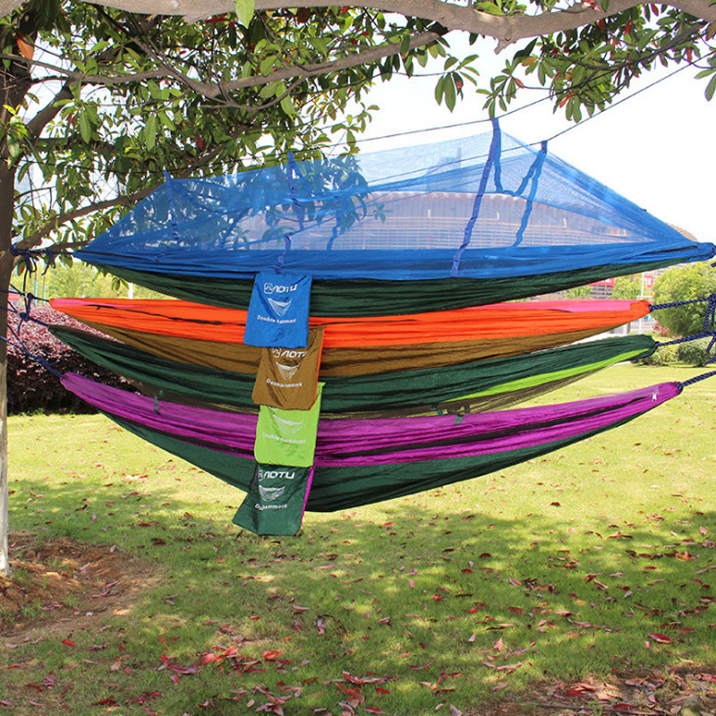 Double Parachute Mosquito Net Hammock Chair Tourism Flyknit Hamaca - Furniture - Photo 4