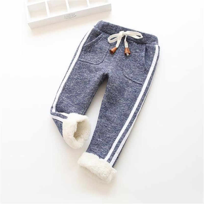BibiCola  Spring Winter Boys Pants cartoon Children thick Warm cotton Pant Kids girls casual Camouflage trousers soft baby new