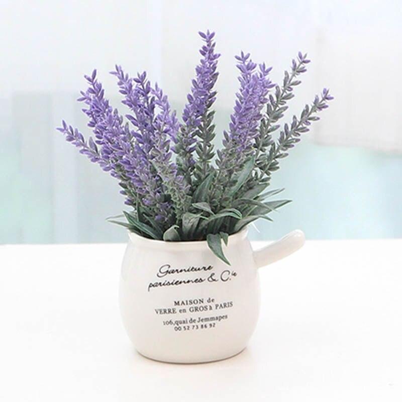 Artificial Potted Bonsai Plants purple