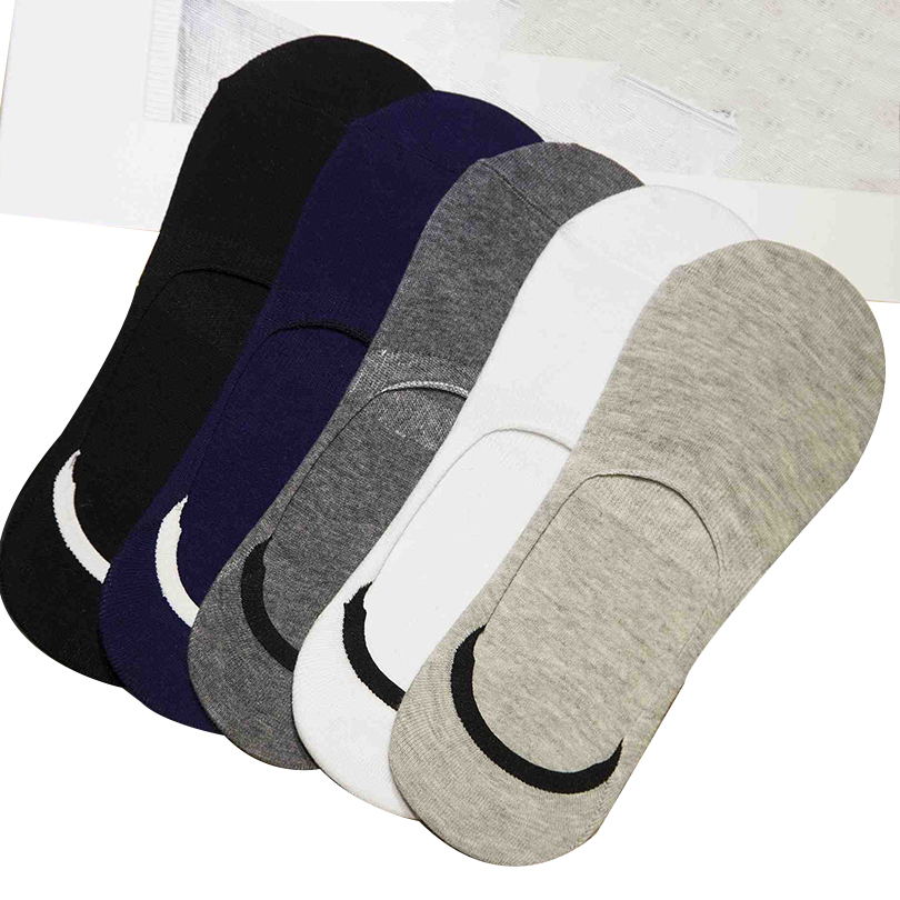5 Pair Men Socks High Quality shallow mouth socks solid breathable absorbent  male socks adult socks